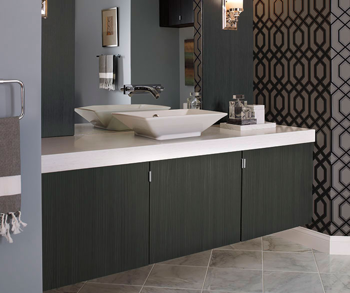 Although linen cabinets and wood vanities are popular options  many  designers are going with floating vanities that look more modern and  elegant Top 10 Bath Trends for 2017 based on National Kitchen and Bath  . National Kitchen And Bath Cabinetry. Home Design Ideas