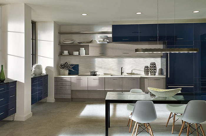 image modern kitchen. In Modern Kitchen Always Is About Sharing A Tendency Toward The Horizontal: Long, Wide Lines, Stacks Of Drawer Cabinets Lined Row, Hardware Set Long Image N