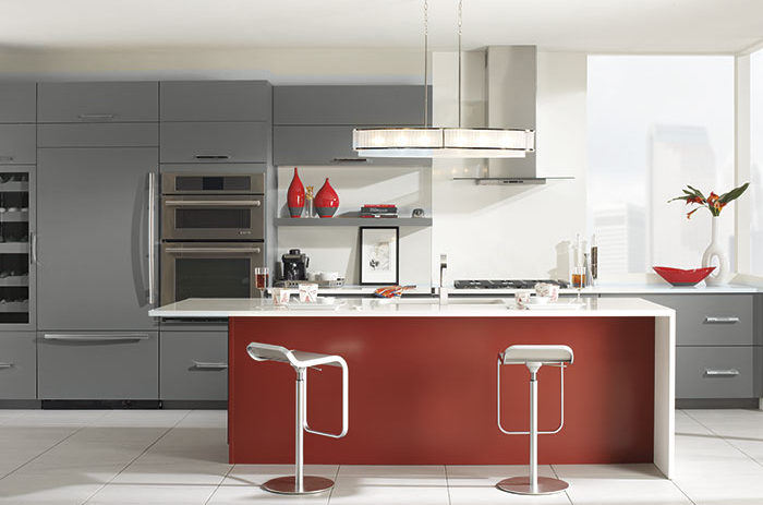 In Modern Kitchen Always Is About Sharing A Tendency Toward The Horizontal:  Long, Wide Lines, Stacks Of Drawer Cabinets Lined In A Row, Hardware Set  Long ...