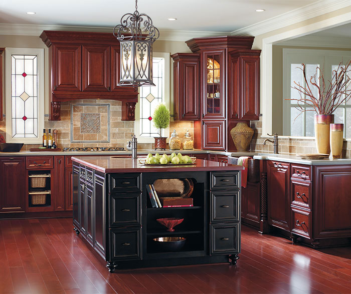 Wtsenates Enchanting Burgundy White Kitchen Cabinets In Collection 5512