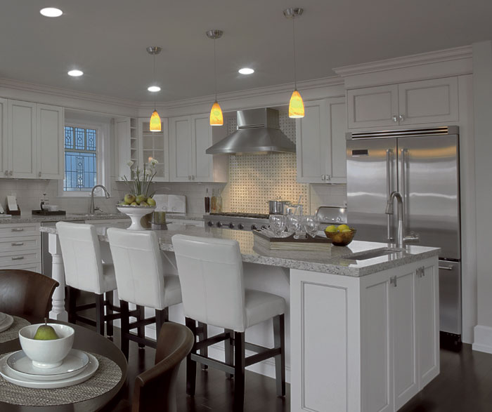 transitional kitchen design white