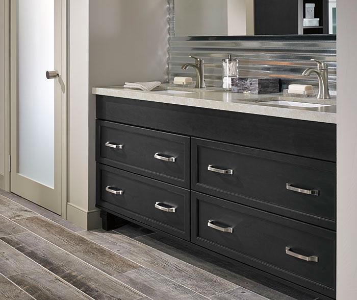 Dark Grey Kitchen Units: Dark_gray_cabinets_casual_bathroom_3