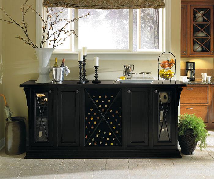 Black Dining Room Storage Cabinets