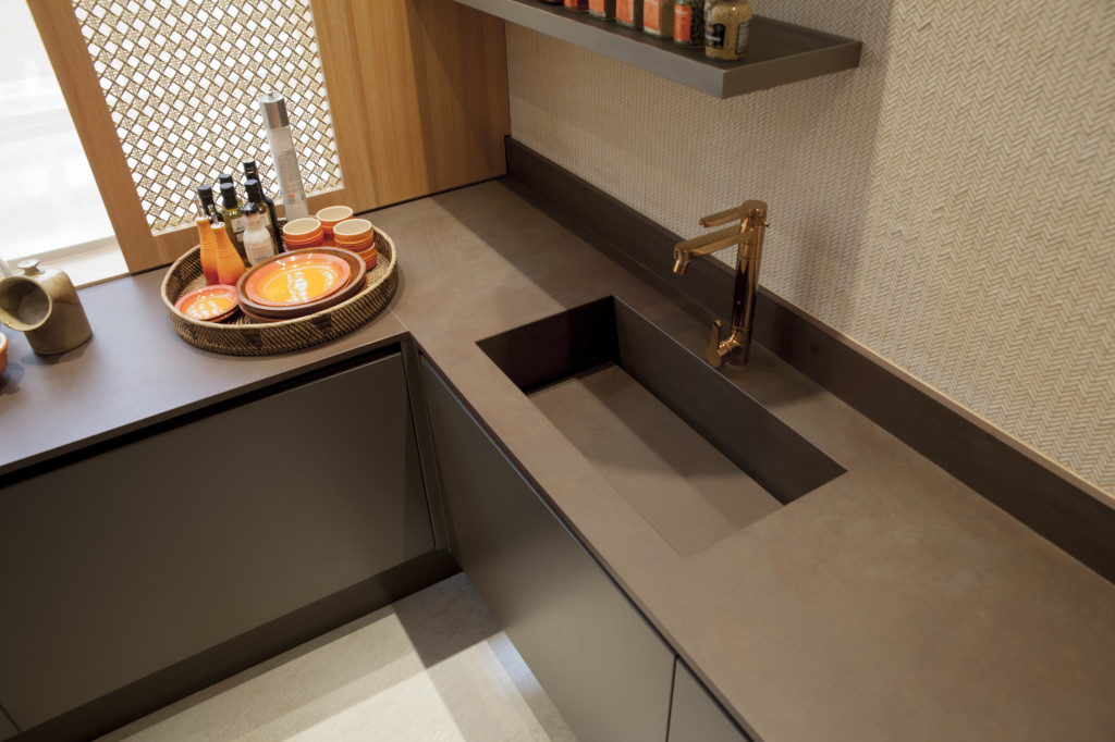 Using Concrete Counter Top Always Gives The Modern Feeling