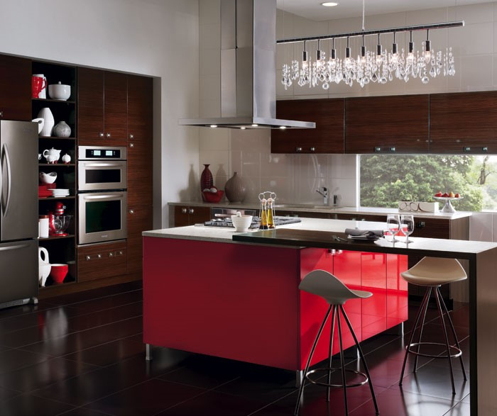 2018 kitchen renovation - Ruby Red & Bistre theme