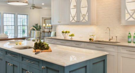 blue shark - white theme - kitchen renovation