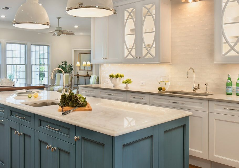 blue shark - white theme - kitchen renovation
