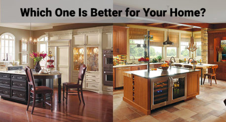 two kitchen design styles.
